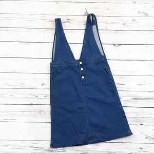 Polagram denim overall dress jumper size large